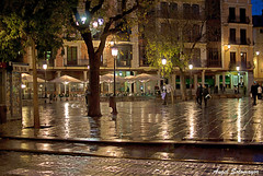 Toledo. Lluvia en Zocodover