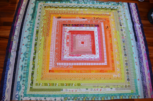 Claire's quilt back, almost done