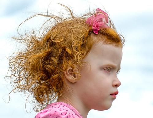 無料写真素材, 人物, 子供  女の子, 人物  横顔・横を向く, アメリカ人
