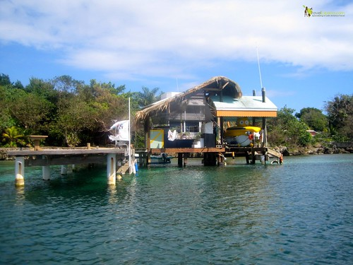 Dock for Deep Sea Exploration Passenger Submarine Roatan Honduras