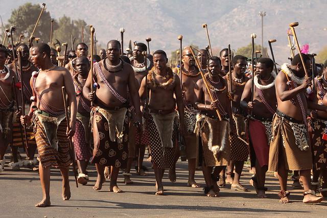 Topless african zulu dance 7
