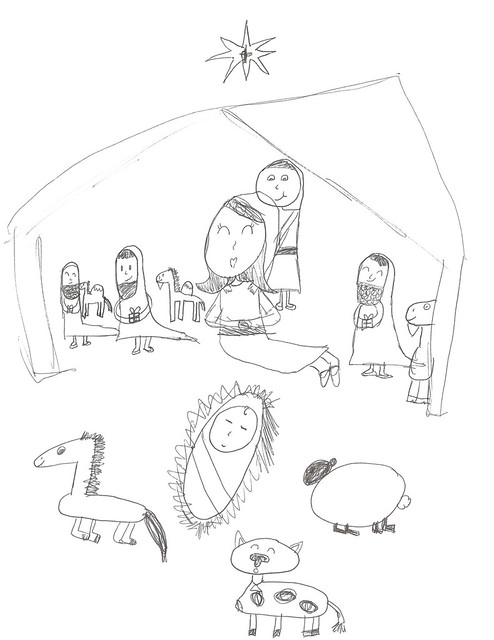 A Nine Year Old's Nativity