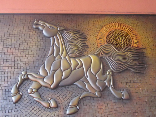 Horse Relief Sculpture Art