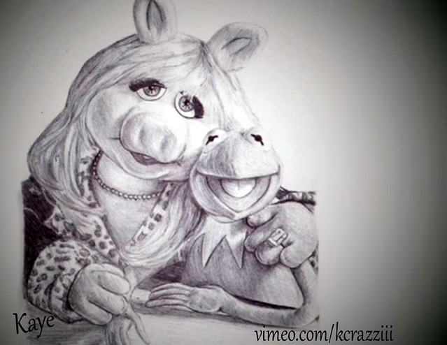 Miss Piggy and Kermit ...