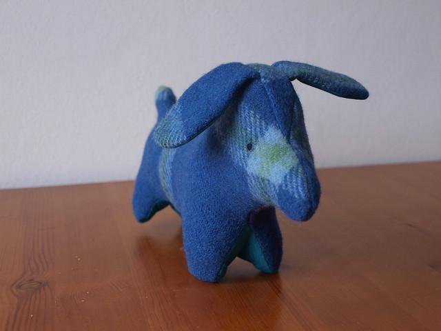 a blue pup