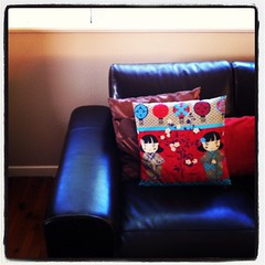Day 31 - Where you relax... My lovely couches with new cushion covers. #marchphotoaday