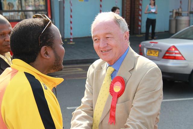 Ken Livingstone campaigning in Woolwich