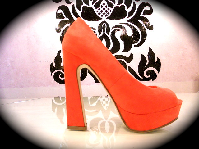 open toe coral pump