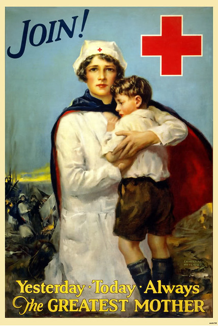 VintageRedCrossPosterMother