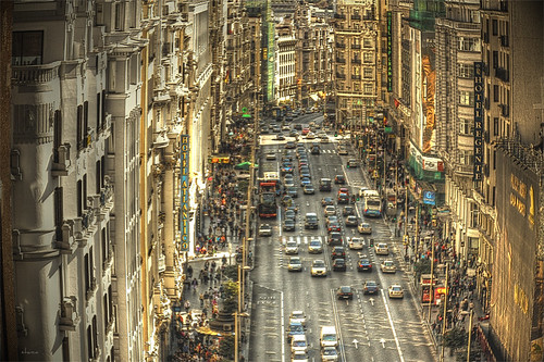 Gran Vía - Madrid by chucafox