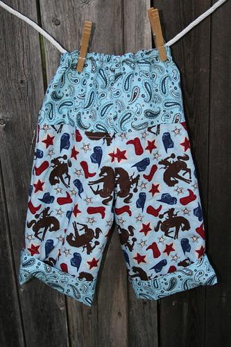 Cowboy Pants Back