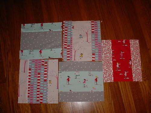 Sherbet Pips quilt blocks