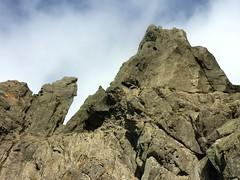 La vire au-delà de Bocca Cilindinu : versant SW de Punta Samulaghja