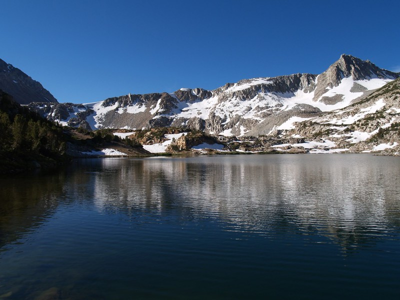 Bishop Pass Trail - Saddlerock Lake