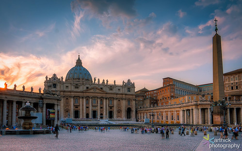 St. Peter's Basilica - Minutes before the sunset