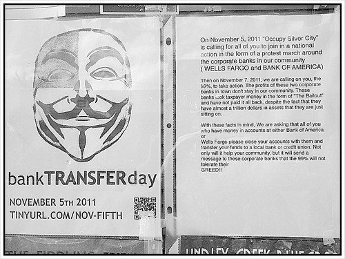 Bank Transfer Day #OccupySilverCity