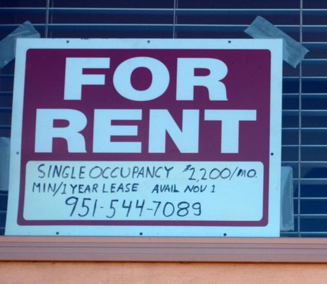 For Rent Sign: 547 Coast Blvd., La Jolla (San Diego) CA