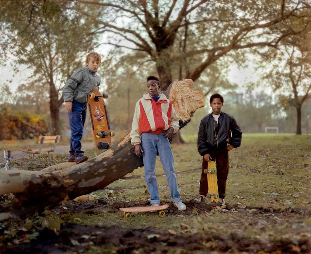 3 boys, london fields,  1987