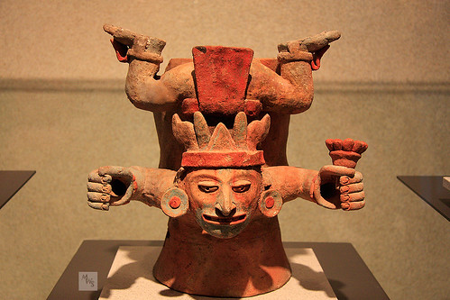 Mayan clay art, incense altar piece, National Museum of Anthropology, Mexico City