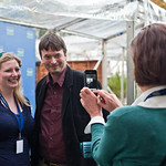 Frances photographs Ian Rankin and Anna Burkey | Anna Burkey from Edinburgh City of Literature gets her picture taken with Ian Rankin