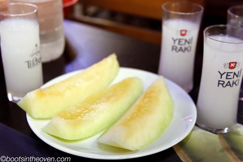 Turkish Melon with Rakı - now you're talking