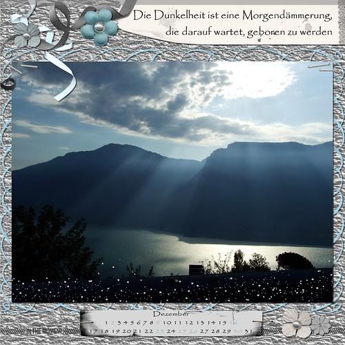 """Kalenderblatt """"Morgendämmerung"""""""