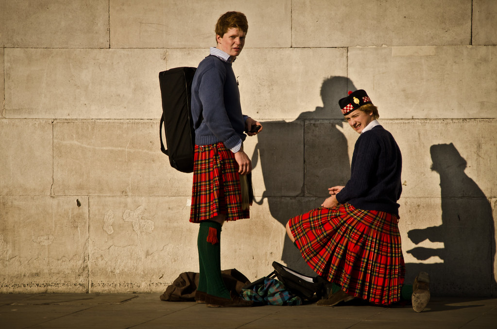 Kilts by a Wall