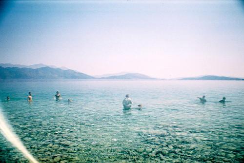 sea summer film 35mm ball europe doubleexposure sunny clear greece ballgame 35mmfilm analogue clearwater