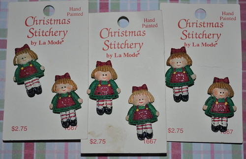 Christmas Doll Buttons