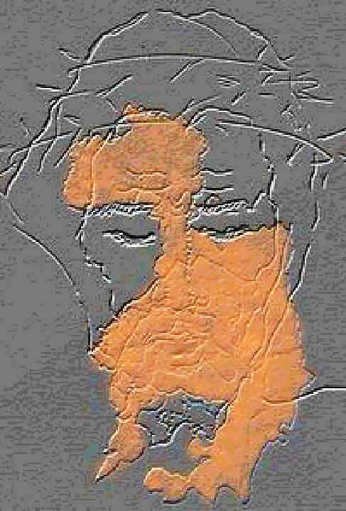 Correspondencia de la cara de Jesús con las manchas de sangre del sudario