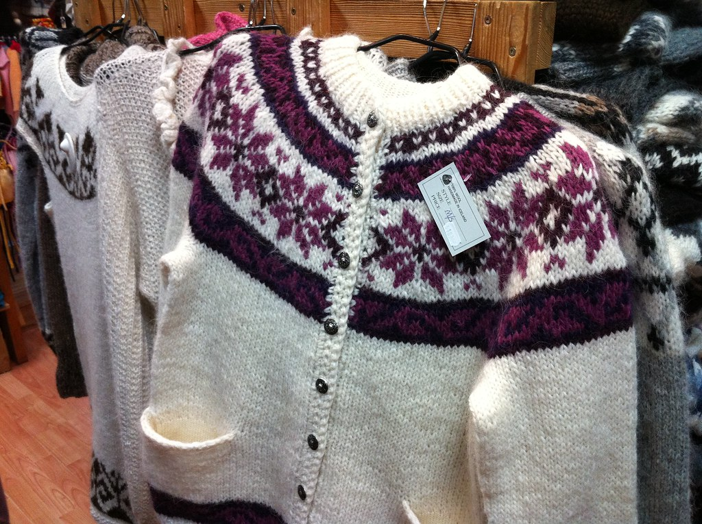 Hand-knit sweater