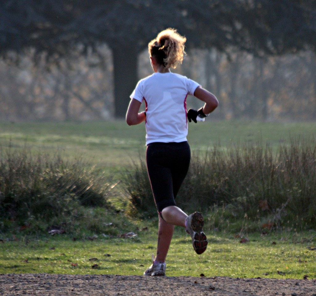 Knole House in Autumn - Nov 2011 - Candid Golden Haired Runner