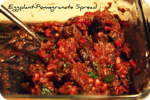 Eggplant-pomegranate spread