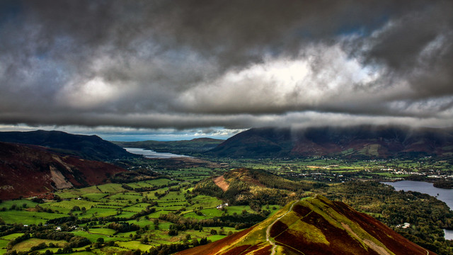 0252 - England, Lake District, View From Catbells HDR