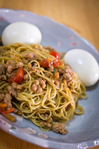 Longevity Noodles - Minced Pork with HK Style Noodles