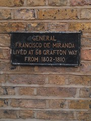 Photo of Francisco De Miranda black plaque