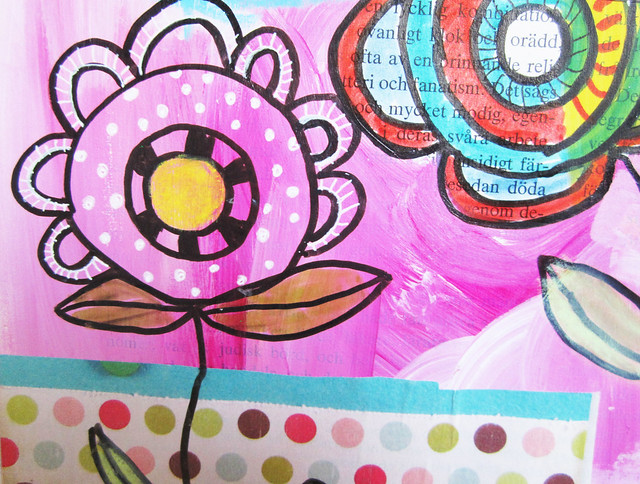 Art journal doodle details
