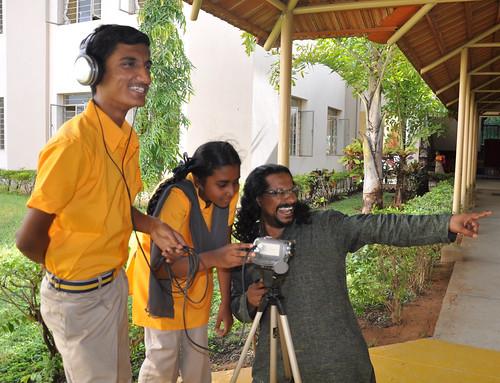 Dhanaraj Keezhara & Students Filming