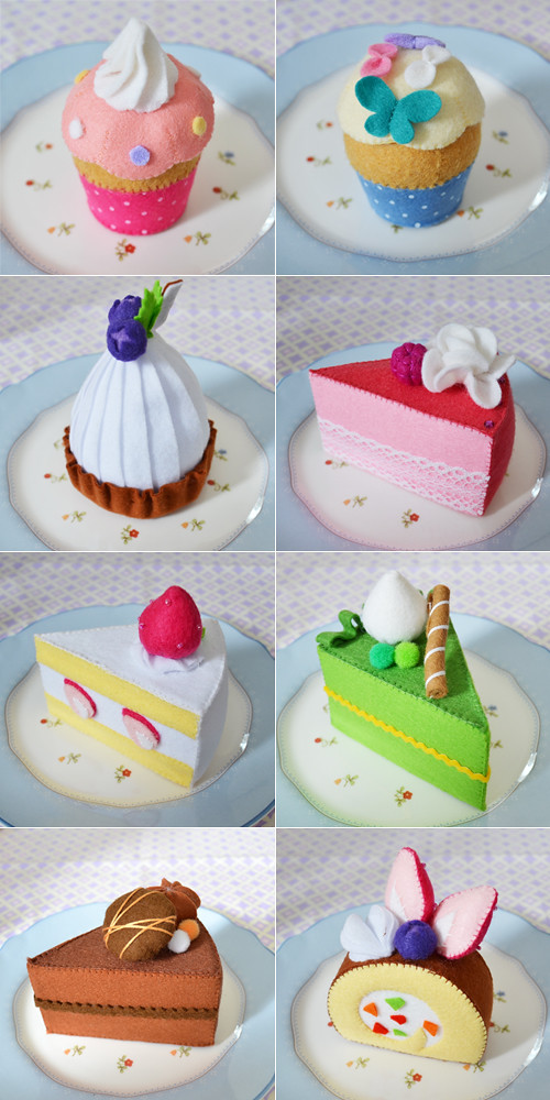 Felt Cakes Made by My Sister