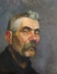 art, facial hair, sketch, painting, drawing, self-portrait, portrait,