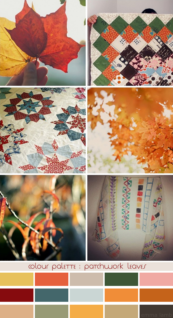 colour palette : patchwork leaves, curated by Emma Lamb