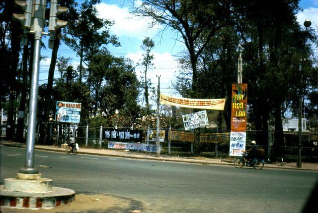 Saigon 1967-68 - Ngã ba Trường Vẽ (ngã ba Nguyễn Văn Học-Chi Lăng)