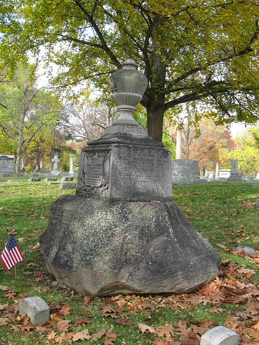Tombstone of Samuel Forrer in Woodland Cemetery, Section 102