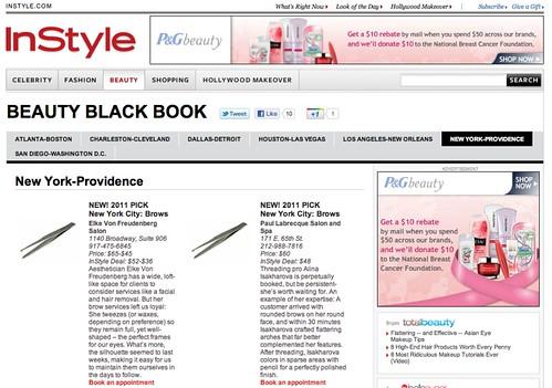 Beauty Blackbook  New York  InStyle