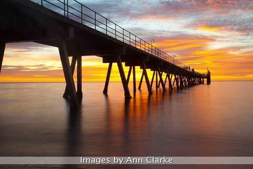 sunset pier jetty
