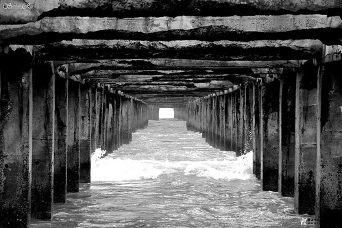 Down-under Pier - Monochrome