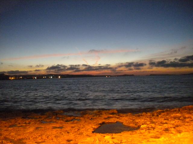 Puesta del sol desde el Café del Mar