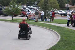 Wheel chair rally for health care