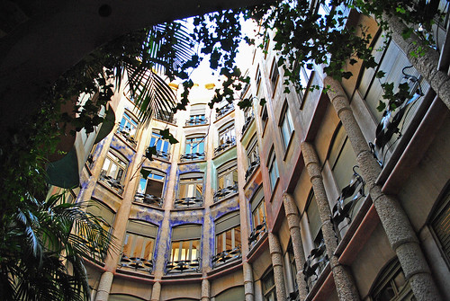 In the Courtyard of Casa Milà