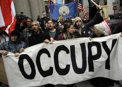 Demonstrations took place in the financial district in New York on November 17, 2011. Cops attacked and arrested protesters for standing up against Wall Street interests. by Pan-African News Wire File Photos